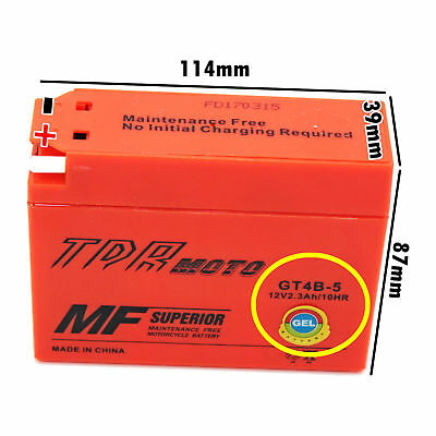 Motorcycle Battery For Yamaha TTR50 TTR90 SR400 Suzuki DRZ70 GT4B-5 YT4B-BS