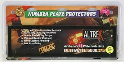 Number Plate Covers - Slimline/Premium, Black Clear, Pair - SUIT NSW, SA #6NLP