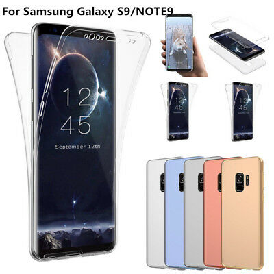 360° Full Protect Thin Clear Soft Case Cover For Samsung Galaxy Note 10 9 S9 A70