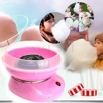 Pink Electirc Fairy Cotton Candy Maker Floss Machine Home Sugar Kids Party DIY