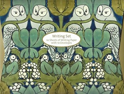 Voysey Owls Writing Set - A5 Paper and White Envelopes