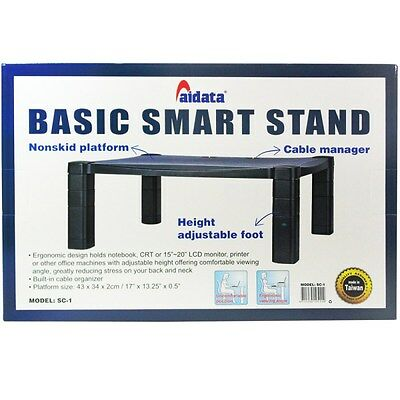 Aidata Office Smart Stand 1 Pc Laptop Computer Monitor Printer Screen Riser