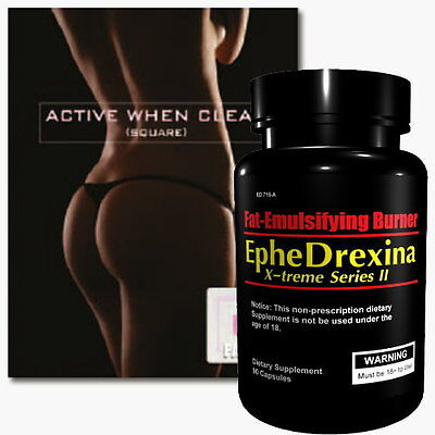 Ephedrexina Extra Strong Fatburner + Slimming Patch Bauch Beine Po Turbo Diät