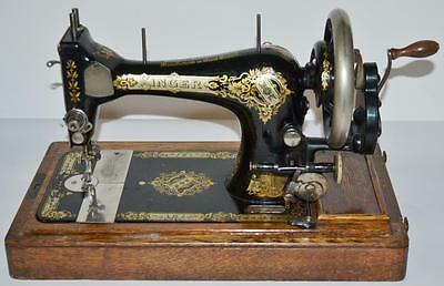 c1909 Singer 28K Hand Crank Sewing Machine - FREE Delivery [PL2054]