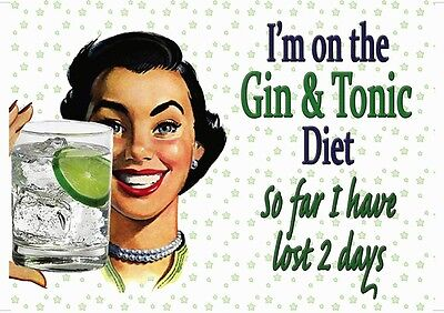 Art print POSTER / CANVAS vintage Im on the Gin Tonic