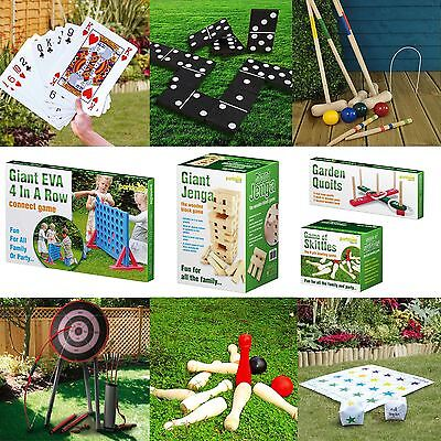 Garden Indoor Outdoor Family Fun  Party Wooden Jenga Tower Quoits Boules Games
