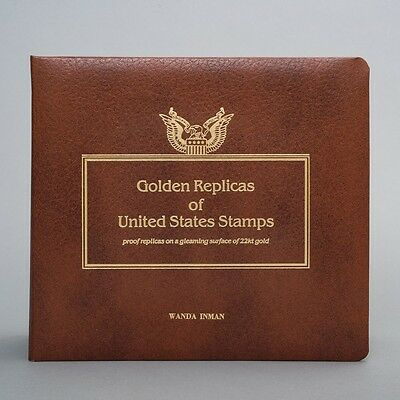 FDCs Golden Replicas of US Stamps Album 22k Gold 1983-1986 Fish, Flowers & More!
