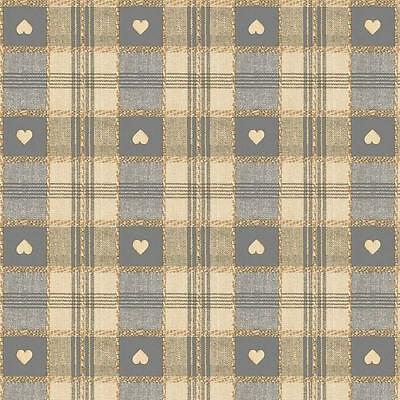 Sweetheart Check Grey Vinyl Wipe Clean Pvc Tablecloth