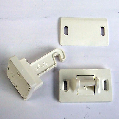 Door Retainer Hook Latch Surecatch Plastic White Static Caravan E39