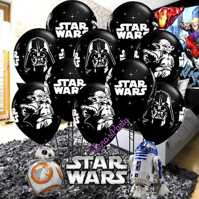 "12"" Star Wars Foil Balloons balloon Birthday Party banner supplies decoration"