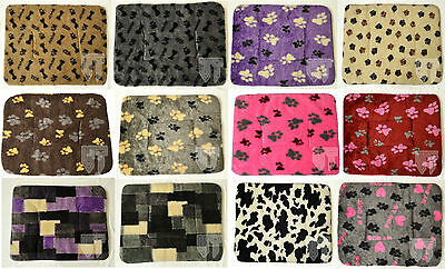 Washable Large Soft Fleece Dog Bed Puppy Cat Kennel Cage Pad Bed Cushion Mat