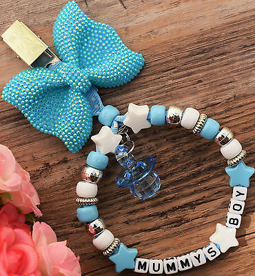 Personalised stunning pram charm in baby blue for baby girls boys ideal gift