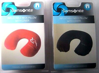 New Samsonite PILLOW POUCH NECK INFLATABLE REST CUSHION CAR OFFICE