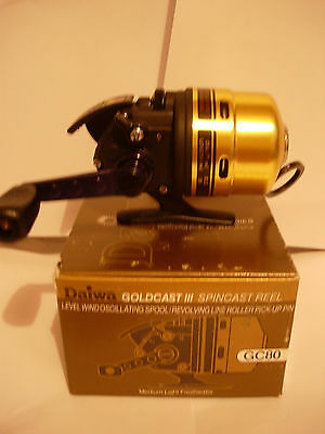 DAIWA GOLDCAST III GC80 Spincast Fishing Reel MEDIUM LIGHT 8lb