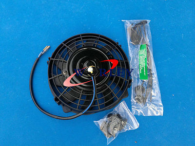 "7"" 7 inch 12V Slim Radiator Cooling Thermo Fan & Mounting kit MGA/MGB GT"
