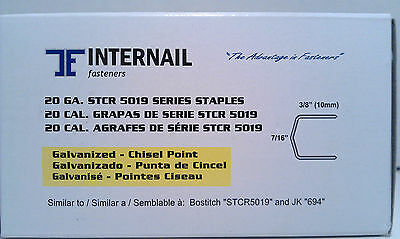 "Internail STCR5019 3/8"" Long Bostitch Power Crown Staple 5,000 Per Box"