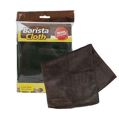 6x Barista Cloth Brown Microfibre 60x30cm Coffee Cleaning Latte Espresso Machine