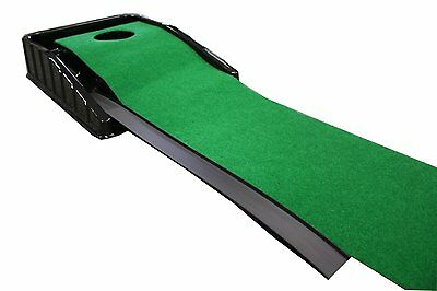 Indoor Putting Green Automatic Putt System Practice Training Artificial Turf Mat