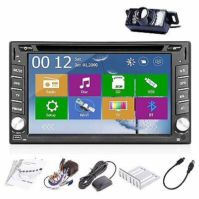 "6.2"" Car GPS Navigation Radio Stereo DVD Player Bluetooth iPod MP3 with Camera"