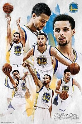 Golden State Warriors - Stephen Curry 2015 Poster Print 22x34 NBA Steph