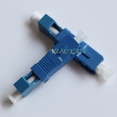 2.5to 1.25mm SC Male to LC Female Adapter Single Mode SM Fiber Optic Connector