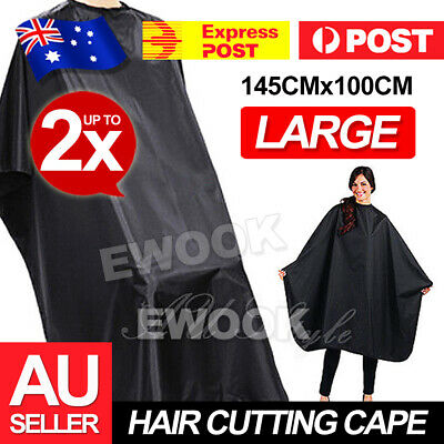 2x Hairdressing Nylon Styling Pro Salon Barber Gown Hair Cutting Cape Cloth