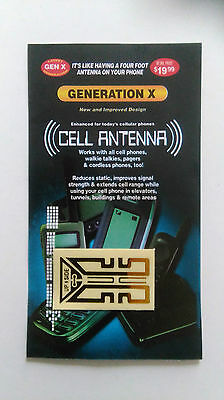 (Brand New/Sealed) MOBILE PHONE CELL ANTENNA SIGNAL BOOSTER METALLIC BACK