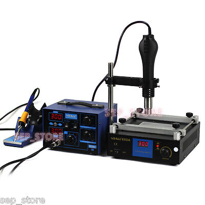 2 in 1 BGA Soldering Rework Station Hot Air + Iron + Preheat Station J164-62