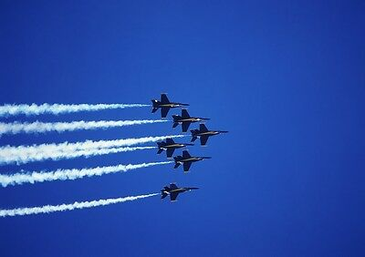Art print POSTER / Canvas Blue Angels Flying In Formation