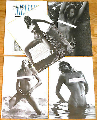 CONNIE NIELSEN 8 page 1994 article sexy nude photos Danish actress clippings