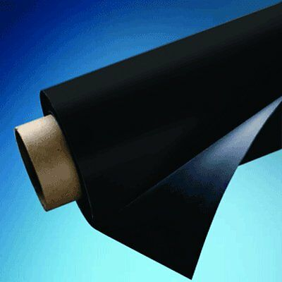 """24"""" X 5' Roll Magnetic Sheeting - Black Vinyl! 15 Mil thick. Free Shipping!"""