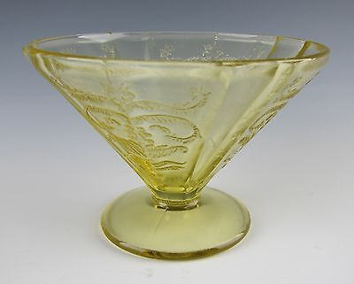 Federal Glass MADRID-AMBER Cone Shaped Footed Sherbet EXCELLENT