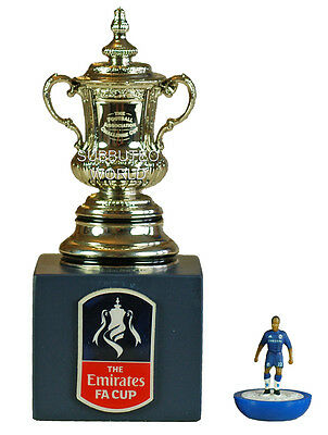 THE FA CUP & DISPLAY BOX. OFFICIAL LICENSED PRODUCT. SUBBUTEO SOCCER. 70mm