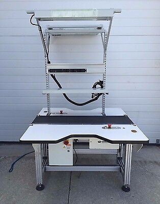 Simplimatic Flat Belt Workstation Conveyor Model 2170 Dual Sided
