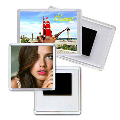 Quality Premium Clear Acrylic Blank Fridge Magnets Photo Frame Different Sizes