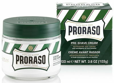 PRORASO MEN PRE & AFTER SHAVE CREAM EUCALYPTUS OIL & MENTHOL PACKED 100ml