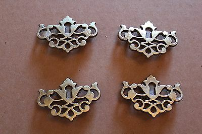 Lot Of 4 Matching  Key Hole Cover Escutcheons , Furniture Parts