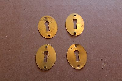 Lot Of 4 Matching Antique  Key Hole Cover Escutcheons , Furniture Parts