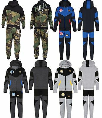 Kids Boys army camo camouflage Print Fleece HNL Top Jog Tracksuit Age 7-13 Year