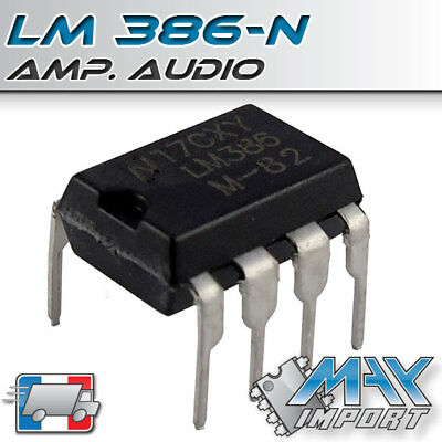 LM386 Amplificateur audio ( LM386N1 ) - Lots multiples, prix dégressif
