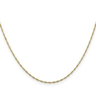 14k Yellow Gold 18in 1mm Singapore Necklace Chain