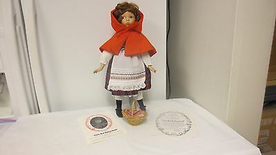 """1988 Dianna Effner 13 1/2"""" Porcelain Doll-Little Red Riding Hood-1st Issue Grimm"""