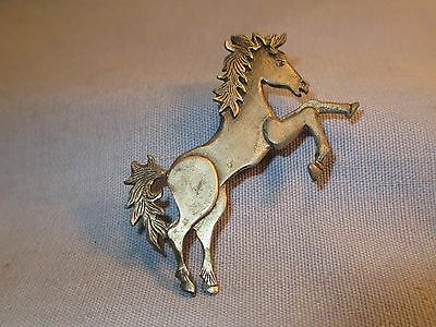 Metzke Pewter Horse Pin / Brooch /    AP 101