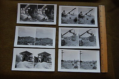 1920s era SET of 6 Privately Made Stereoviews of MINING in New Mexico or Arizona