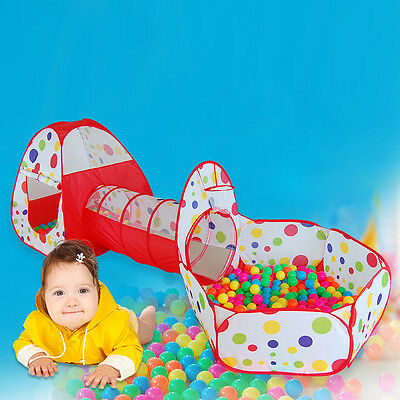 Kids Children's Outdoor Indoor Toys Play Tent Crawling Huge  House Tunnel Tube