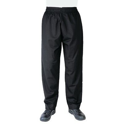 2 x Chef Pants DNC Black Elastic Drawstring Unisex All Sizes Uniforms