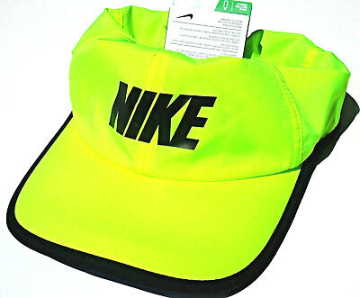 39d51fc74394d1 VOLT-BLACK 2.0 NIKE Adult Unisex RUNNING Cap DRI-FIT Tennis FEATHERLIGHT
