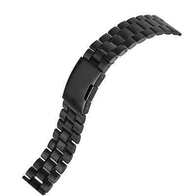 Black Stainless Steel Watchband Wrist Band Strap For Fitbit Blaze Smart Watch