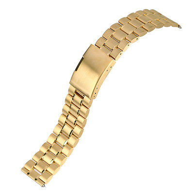 Gold Stainless Steel Watchband Wrist Band Strap For Fitbit Blaze Smart Watch