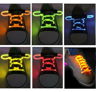 Led Light Up Shoelaces Disco Flash Lite Glow Stick Neon Running Shoes Lace Djing